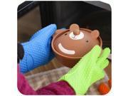 Kitchen Heat Resistant Silicone Glove Oven Pot Holder Baking BBQ Cooking Tool Orange