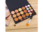 Professional 20 Colors Contour Face Cream Makeup Concealer Palette Powder Brush