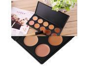 10-Colors Face Makeup Concealer Palette + Wood Handle Flat Angled Brush