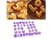 36Pcs Numbers Alphabet Letters Cookies Embosser Cutter Cake Decorating Mould