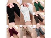 Fashion Unisex Men Women Knitted Fingerless Winter Gloves Soft Warm Mitten 9SIA9083A29178