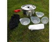 6pcs Outdoor Camping Cookware Hiking Equipment Cooking Picnic Bowl Pot Set 9SIA9083VZ5309