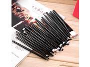 20 pcs Professional Makeup Beauty Cosmetic Blush Black Brushes Kits
