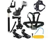 US STOCK 8 in 1 Chest Head Mount Floating Accessories Kit For GoPro 1 2 3 4 Camera