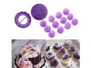 14 pcs Cupcake Muffin Chocolate Baking Cups Heart Flower Mould Cupcake Liners 9SIA9084894451