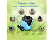 3.1A 2 USB Cigarette Socket Cup Holder Car Charger with Voltage Detector 9SIA9084WZ8352