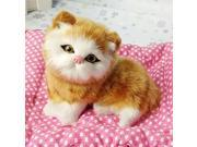 New Lovely Simulation Animal Doll Plush Sleeping Cats with Sound Kids Toy 9SIA90854D8151