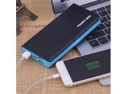 Portable 4 Ports External Power Bank With LED Flashlight 50000MAH Large Capacity Power Supply Charger For Mobile Phone blue 9SIAFS976R5576