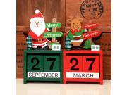 Small Size Lovely Cute Christmas Wooden Calendar Home Office Desktop Ornament Christmas Decoration Children's Christmas Gifts multi-color mixed 9SIA9086KP1250