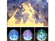 Mini Portable Beautiful Flower Colorful LED Ultrasonic Air Humidifier Home Office Oil Aroma Diffuser Fragrance Machine babysbreath blue 9SIAFS976R6425