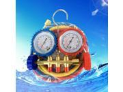Automotive Air Conditioning Fluoride Table Stainless Steel Digital Display Refrigerating Meter with Double Gauge Valve blue&red&gold 9SIAFS976R8884