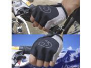 Unisex Riding Gloves Breathable Half Finger Cycling Skiing Gloves Shockproof Antiskid Racing Motorcycling Rock Climbing Gloves gray 9SIA9086KN6924