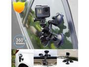 Portable Triple Suction Cup Mounts Glass Sucker Car Holder With Head For GoPro Hero 5 4 3+2 1 for SJ Sport Camera black 9SIA9086KZ2854