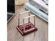 Newton's Cradle Fun Steel Balance Ball Physics Science Desk Toy Accessory Gift wine red 9SIAFS976S7572