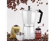 Aluminum 8-Angle Moka Espresso Cup Continental Moka Percolator Pot 3cup/6cup silvery 9SIAFS976S4669
