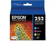 Epson T252 Durabrite - Ultra Black & Color Combo Epson DURABrite Ultra Ink T252 Ink Cartridge - Cyan, Black, Magenta, Yellow - Inkjet - Standard Yield - 4 / Pac