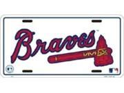 Image of Atlanta Braves White License Plate
