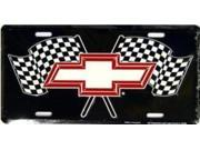 Image of Chevy Racing Flags Metal License Plate