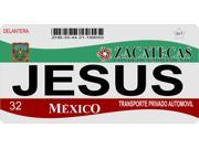 Mexico Zacatecas Photo License Plate Free Personalization on this plate
