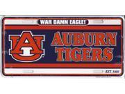 Auburn Tigers War Damn Eagle! License Plate