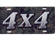 Camo 4X4 License Plate