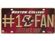 Boston College Eagles #1 Fan License Plate