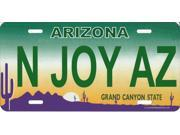 Arizona N JOY AZ Photo License Plate  Free Personalization on this Plate