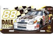 Dale Jarrett #88 NASCAR Plastic License Plate 9SIA5VG2FK5837