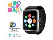 Indigi® 2-in-1 GSM + Bluetooth SmartWatch Phone Built-in Camera AT&T T-mobile Unlocked!