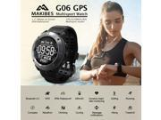 Makibe G06 Sport GPS Bluetooth Smart Watch Heart Rate Monitor Smartwatch Fitness Tracker Smart Band with Compass - Black
