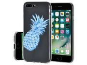 Soft Gel Clear TPU Skin Case - Modern Blue Pineapple for iPhone 7 Plus 9SIV1976TA3326