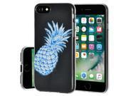 Soft Gel Clear TPU Skin Case - Modern Blue Pineapple for iPhone 7 9SIA17P4UR5236