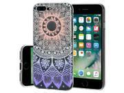 Soft Gel Clear TPU Skin Case - Mandala Ombre for iPhone 7 Plus