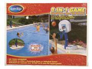 2 in 1 Pool Basketball Set and Pool Volleyball Set
