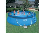 Intex 18ft. Round Easy Set Deluxe Swimming Pool
