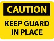 NMC C535AB-CAUTION, KEEP GUARD IN PLACE, 10X14, .040 ALUM (1 EACH)