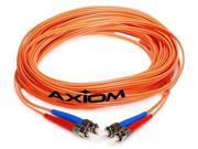 Axiom STSTMD5O 15M AX Network Cable St Multi Mode M To St Multi Mode M 49 Ft Fiber Optic 50 125 Micron Om2 Orange