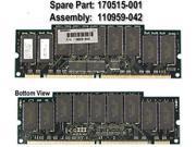 HP 170515-001 Mem Sdram, 512Mb, 256Mb, Cl2