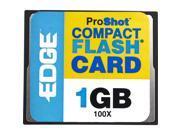 EDGE Tech 1GB ProShot CompactFlash Card - 100x