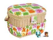 Sewing basket with 41-pc sewing kit