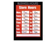NuDell 37085BH Clear Plastic Sign Holder With Business Hours Header, All-Purpose, 8 1/2 X 11
