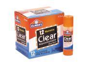 Elmers E4064 School Glue Stick, Clear, 8 G, 12/Pack