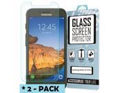 EMPIRE Samsung Galaxy S7 Active Tempered Glass Screen Protector Covers (2-Pack), Clear 9SIA1SJ4RA5364