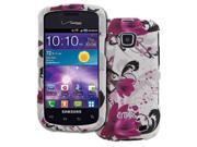 EMPIRE Samsung Illusion I110 Rubberized Design Hard Case Cover (White with Purple Flowers) [EMPIRE Packaging] 9SIA1SJ3YM0097