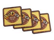 Pack Of 125 Big Dick Beer Durable Paper Bar Coasters 4 X 4 in.