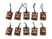 Friki-Tiki 10 Piece Tiki Style Patio String Light Set