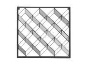 Three Hands Square Metal Wall Sculpture Geometric Design With Mirrored Detail