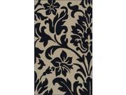 2' x 3' Darkness Blooms Midnight Blue & Off-White Hand Tufted Polyester Area Rug 9SIA09A1Z36624