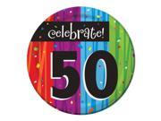 "Club Pack of 96 Milestone Celebrations """"Celebrate 50"""" Disposable Paper Party Lunch Plates 7"""""" 9SIA09A34D2489"
