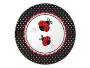 "Club Pack of 96 Ladybug Fancy Disposable Paper Party Banquet Dinner Plates 10"""""" 9SIA09A48G3201"